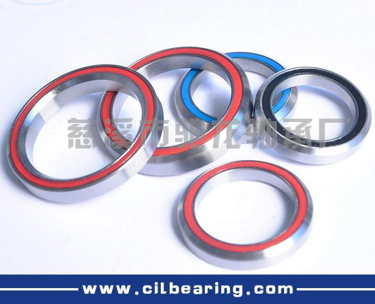 Cartridge headset bearings (bearing the bevel)